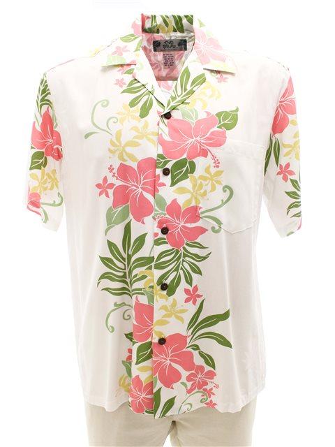 Rene panel White Rayon Men's Hawaiian Shirt