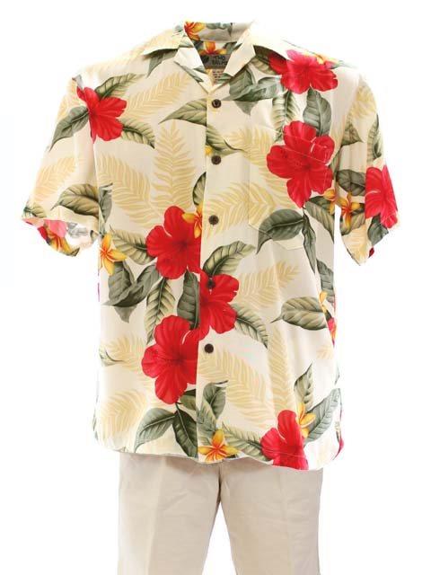 Leilani Cream Rayon Men's Hawaiian Shirt