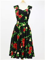 Sundress [Hibiscus / Black]
