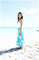 2-Way Hibiscus Wrap Skirt [Turquoise]