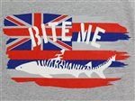 SeaHawaii T-Shirt [Bite Me (Hawaiian Flag)  / Gray]