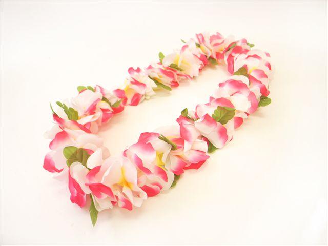 Pink white standard flowers lei alohaoutlet mightylinksfo