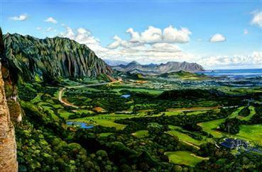 Lynne Domokos Boyer Pali Lookout Art Print Alohaoutlet