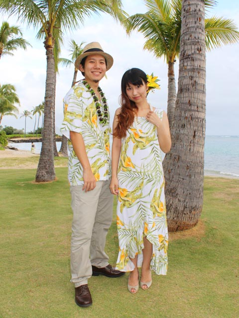 Couple Matching Hawaiian Outfits