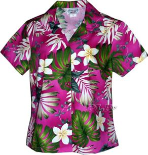 Pacific legend plumeria monstera pink cotton women 39 s for T shirt printing hawaii