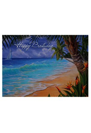 Beach Birthday Greeting Card Alohaoutlet