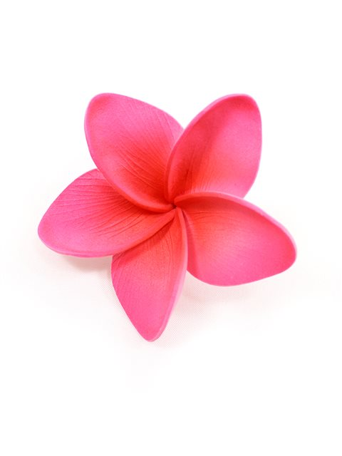 Pink Single Plumeria Hair Clip 2.5"