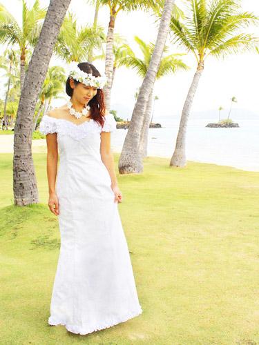 Hawaiian White Dress
