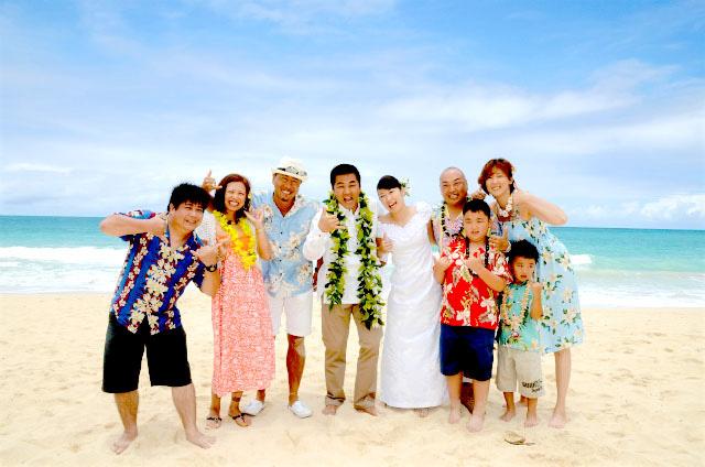 ハワイ結婚式写真