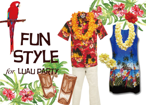 33eb014ea4654 The fun luau style or party luau style is the kind of this you see when  going to a luau on vacation. Usually having more non-traditional prints and  shorter ...