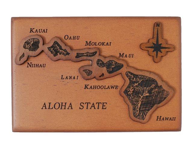 Aloha state wooden jewelry box alohaoutlet aloha state wooden jewelry box reheart Image collections