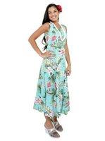 Plus Size Hawaiian Print Maxi Dresses
