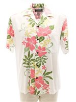 Two Palms Rene panel White Rayon Men's Hawaiian Shirt