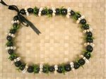 Black Kukui Nut, Leaf & Shell Combination Lei