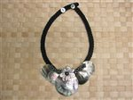 5 Round Mother Of Pearl Tahitian Shell Necklace
