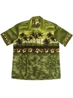 Winnie Fashion The Aloha Green Cotton Men's Hawaiian Shirt