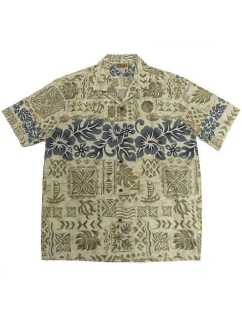 Local Aloha Ivory Cotton Men's Hawaiian Shirt