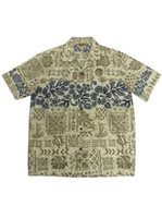Winnie Fashion Local Aloha Ivory Cotton Men's Hawaiian Shirt