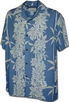 Pacific Legend Slate Rayon Men's Hawaiian Shirt  Hawaiian Shirt