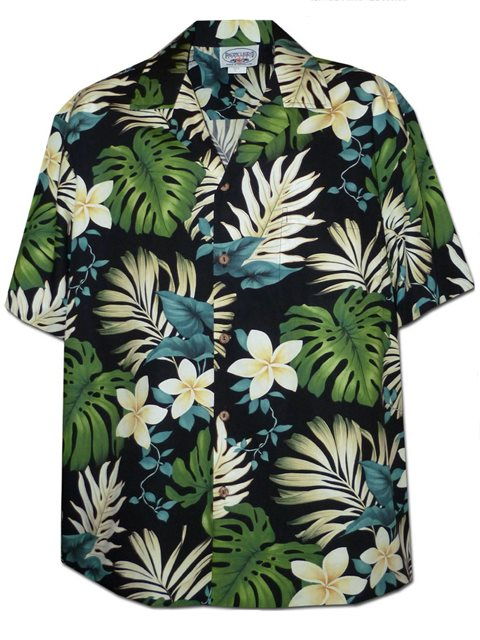 Anthurium Plumeria Womens Hawaiian Aloha Rayon Shirt