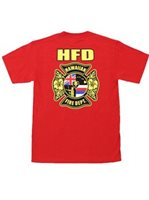 HPD  Red Cotton Men's Hawaiian T-Shirt