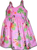 Pacific Legend Pink Toddlers Bungee Dress