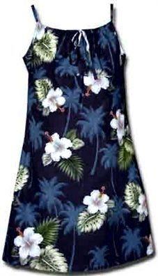 2318ae61aa0 Pacific Legend Hibiscus Monstera Navy Cotton Youth Girls Hawaiian ...