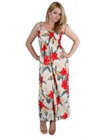 Two Palms Leilani/Cream Summer Maxi Dress