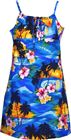 Pacific Legend Sunset Blue Cotton Youth Girls Hawaiian Spaghetti Dress