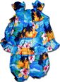 Pacific Legend Sunset  Blue Cotton Infant Girls Hawaiian Cabana Set