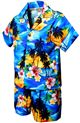 Pacific Legend Sunset Blue Cotton Boys Hawaiian Cabana Set