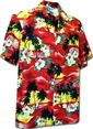 Pacific Legend Sunset Red Cotton Boys Junior Hawaiian Shirt