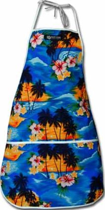 Blue Hawaiian Apron
