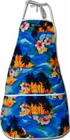 Pacific Legend Blue Hawaiian Apron