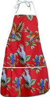 Pacific Legend Red Hawaiian Apron