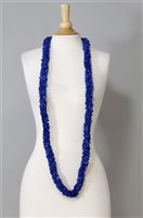 Navy Blue Double Pikake Long Lei [60% OFF]