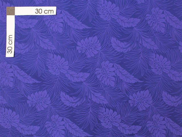 Monstera Blue Poly Cotton LMH-04-331