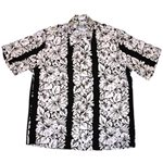 Diamond Head Classic Hibiscus Black Rayon Men's Hawaiian Shirt