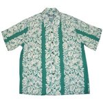 Diamond Head Classic Hibiscus Aqua Rayon Men's Hawaiian Shirt