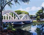 Lynne Domokos-Boyer Bridge to Haleiwa (Art Print)
