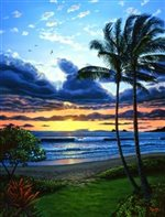 Lynne Domokos-Boyer Kailua Bay Aglow (Art Print)