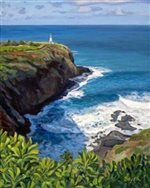 Lynne Domokos-Boyer Kilauea Lighthouse (Art Print)