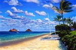 Lynne Domokos-Boyer Lanikai Breeze (Art Print)