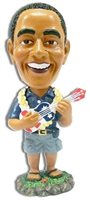 Ukulele Bobble Head Obama Doll