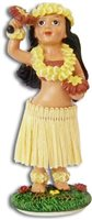 Girl with Uliuli Miniature Dashboard Hula Doll