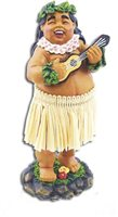 Bradda Ed with Ukulele Miniature Dashboard Hula Doll