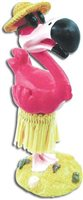 KC Hawaii Hula Flamingo Miniature Dashboard Hula Doll
