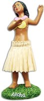 Aloha Hula Girl Miniature Dashboard Hula Doll