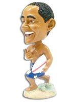 Surfboard Bobble Head Obama Doll