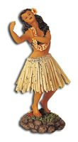 Dancing Pose/Natural Skirt Leilani Dashboard Hula Doll